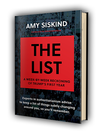 The List: A Week-by-Week Reckoning of Trump's First Year - cover