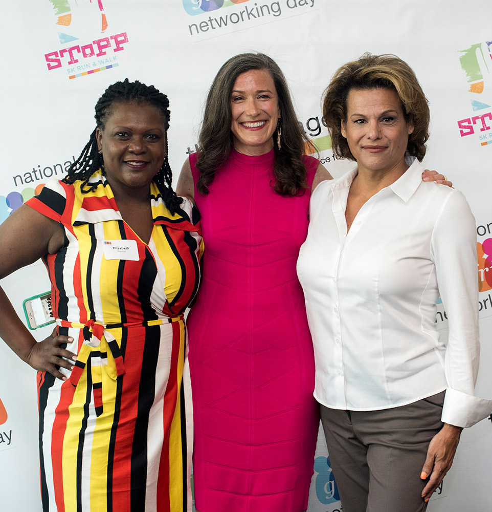 Amy Siskind with Alexandra Billings and Liz Ngonzi